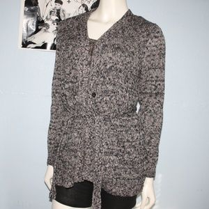 Beautiful Croft & Borrow L Cardigan Black white